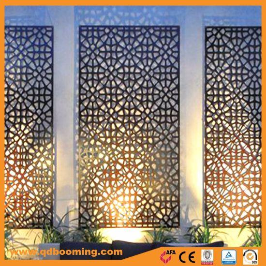 Hot Metal Laser Cut Garden Decorative Screens For Design