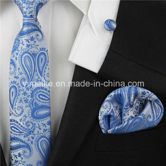 New Trending Paisley Design Fashion Polyester Woven Ties Mens pictures & photos