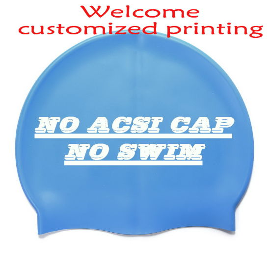 Customized Printing Logo Silicone Swimming Cap Swim Cap Swim Hat with Lowest Price