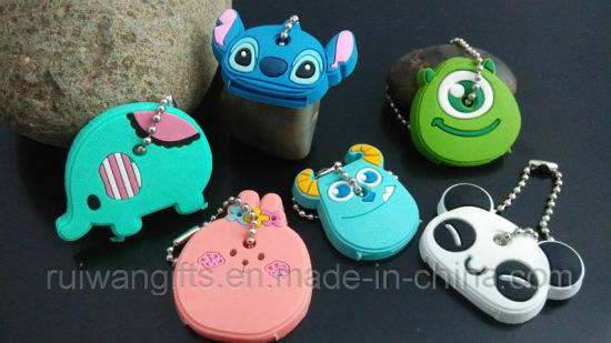Wholesale Cute Animal 3D PVC Rubber Key Cover in Cheap Price