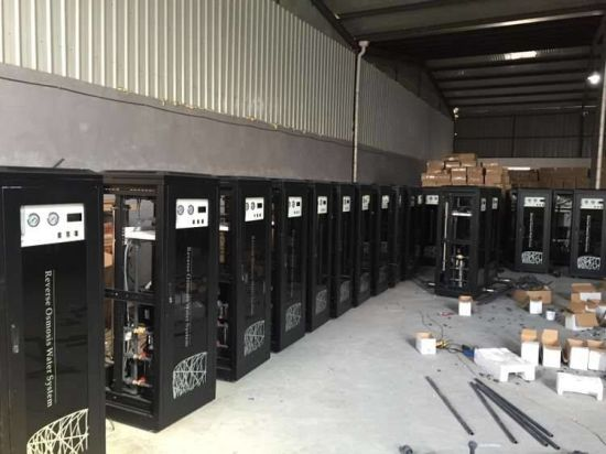 250L/H Industrial RO System with Black Cabinet 4040 RO Membrane