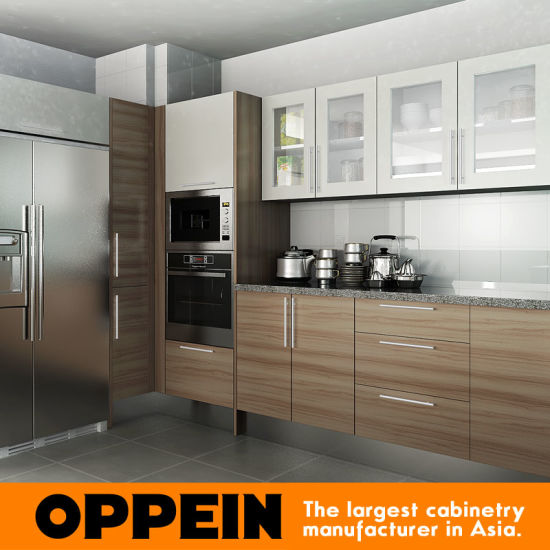 Oppein Hot Kenya Project Melamine Wooden Kitchen Cabinets Op15 M04