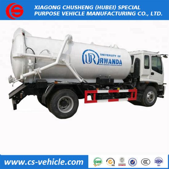 Rhd Sinotruk HOWO 4X2 Vacuum Sewage Truck 6000L Sewage Suction Truck