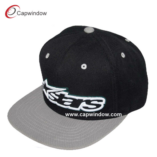 Factory Wholesale Snapback Baseball Cap with 3D Embroidery (cw-0799)