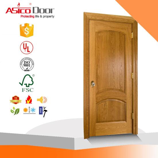 China Solid Decorative Wooden Panel Door China Timber Door