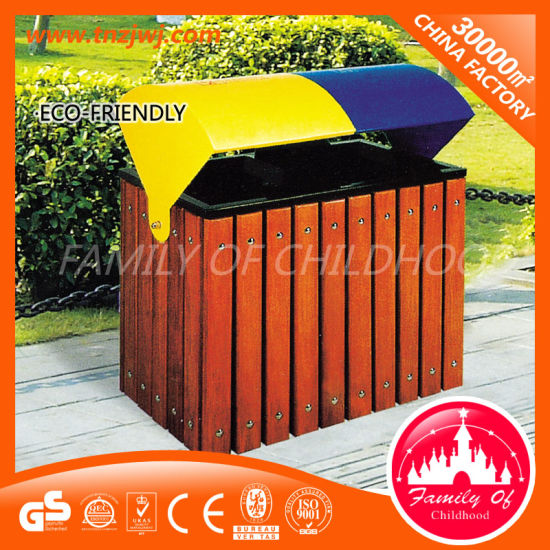 Hot Sale Garbage Bin Wooden Trash Can Waste Bin in Park pictures & photos
