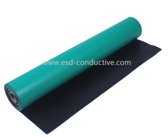 RoHS 3.0 Odor-Free Dark Blue Anti-Static ESD Rubber Table Mat
