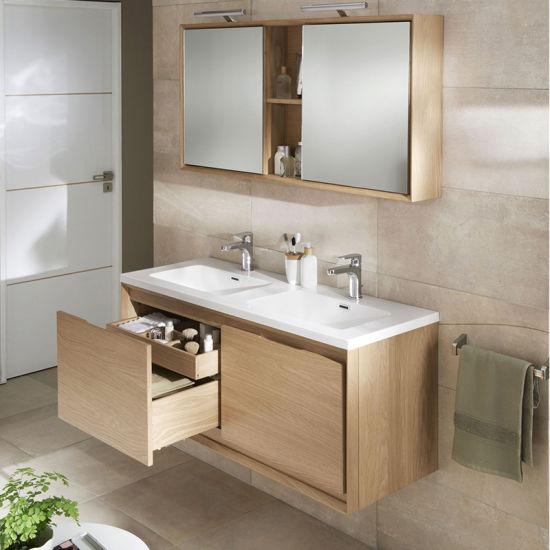 Floating Wood Bathroom Vanity With