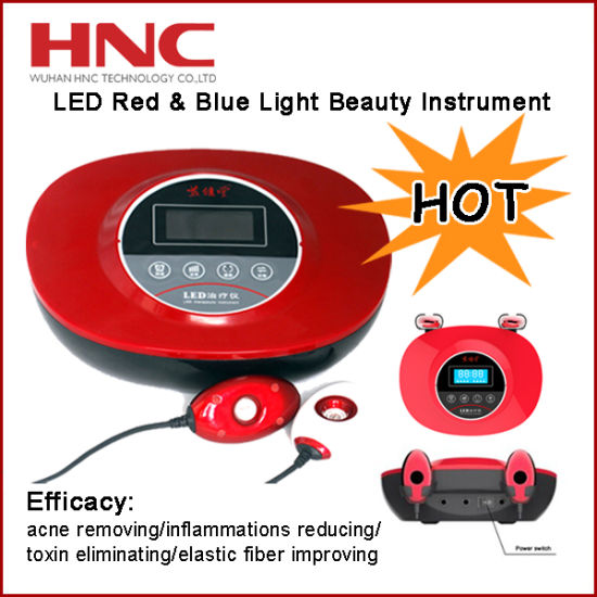 2 in 1 Skin Care Massager LED Red and Blue Light Beauty Device pictures & photos