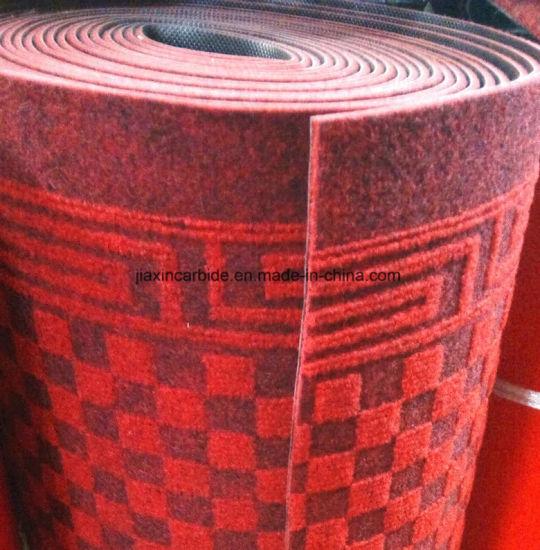 Jacquard Small Square Design Polyester Nonwoven Used Hotel Apartment Corridor Carpet