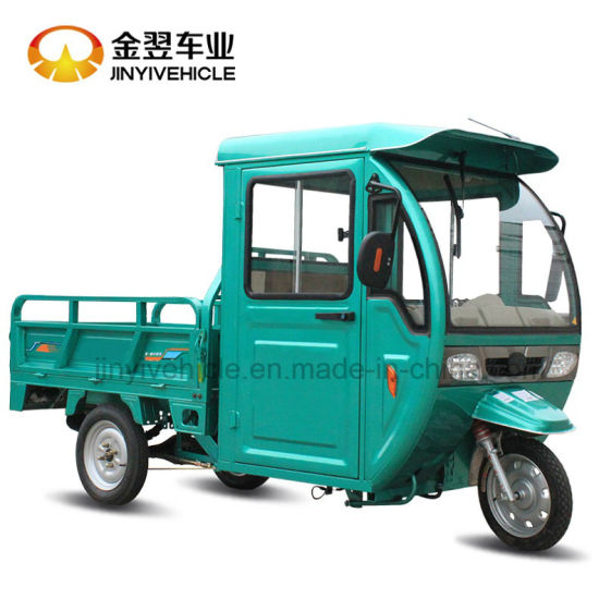 Semi-Closed Electric Cargo Tricycle pictures & photos