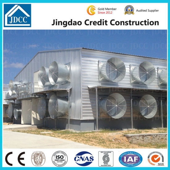 Two Storey Galvanized Steel Structure Poultry Chicken House pictures & photos