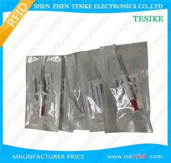 2.12*12mm 134.2kHz RFID Glass Tag for Pet Identification Identification