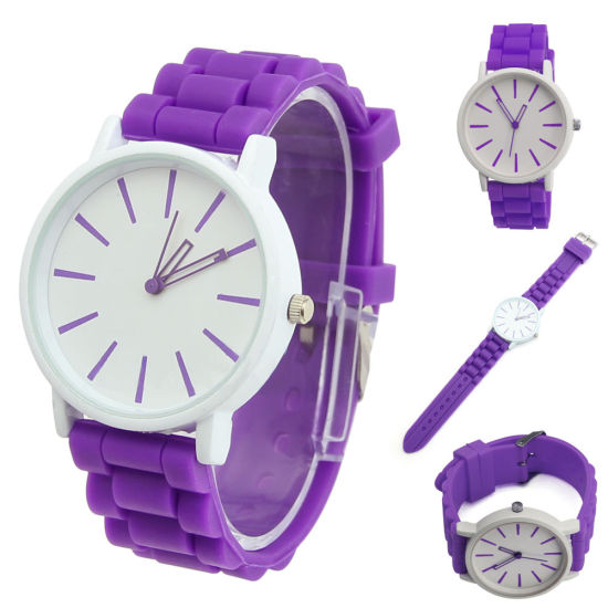 High End Custom Design Changeable Face Silicone Jelly Watch pictures & photos