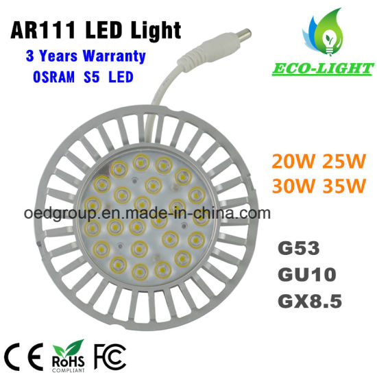 UL ETL SAA Ce Driver AC100-277V 35W Osram S5 LED AR111 LED Lamps with External Driver pictures & photos