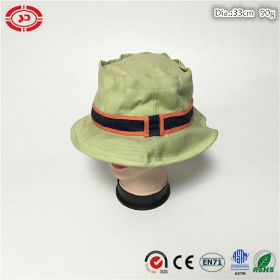ec73397d116 Women Cotton Round Fashion New Custom Plain Summer Cap Hat pictures   photos