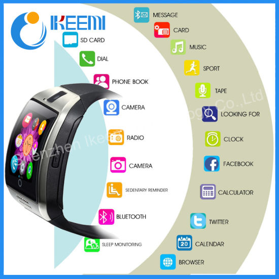 ad875d693 Hot Selling Hand Watch Mobile Phone Price Bluetooth Q18 Men Android Smart  Watch