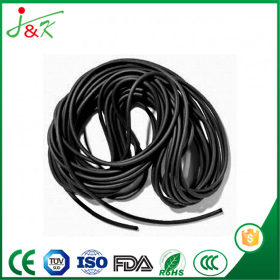 Black FKM Rubber Cords &Sealing Strips pictures & photos