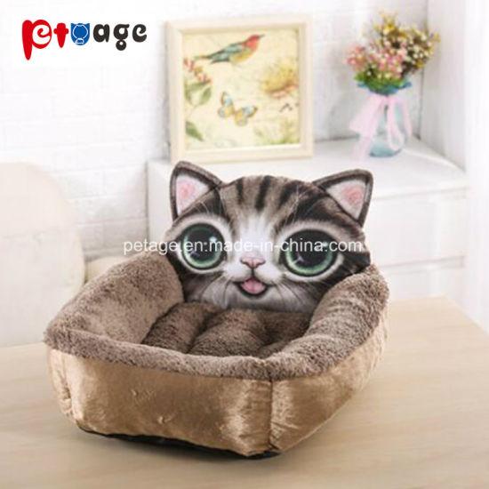 Husky 3D Printing Cat Beds Bulldog Dog Sofa Pet Accessories