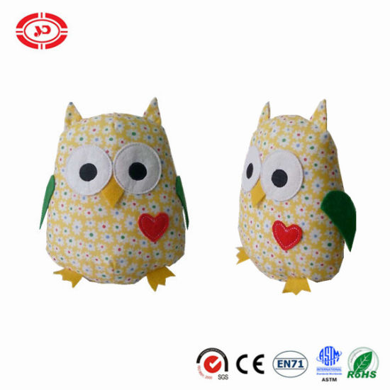 100% Cotton Printed Fabric Stuffed Soft OEM Owl Toy pictures & photos