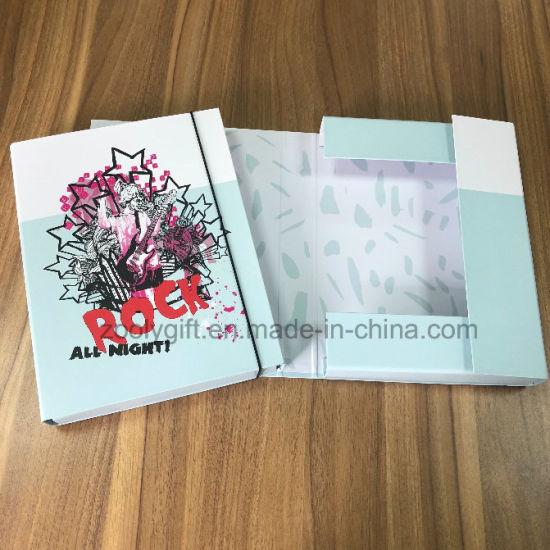 Customize Elastic Paper Box File Business Use Elastic Documents Box File