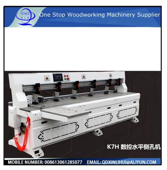 Side Hole Wood Furniture Punching Laser Drilling Machine/ Woodworking CNC Side Hole Puncher