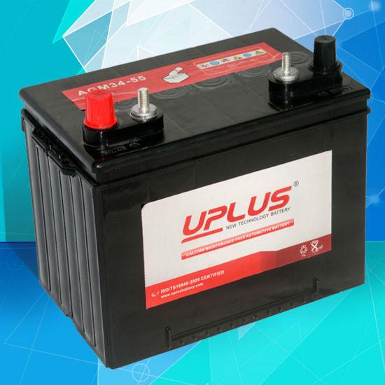 AGM34-55 China Factory Supply 12V 55ah SLA Automotive Battery