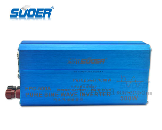 Suoer 500W 12V Inverter DC to AC Power Inverter (FPC-500A) pictures & photos