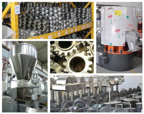 Plastic LDPE Recycling Pellet Horizontal Water Ring Extrusion Machine pictures & photos