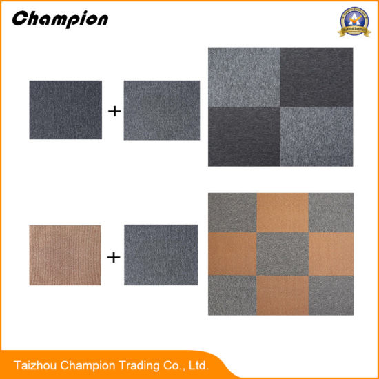 High Quality Portable Stripe Pvc Carpet Tiles Display Stand Woven Vinyl Washable