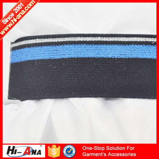 Hot Products Custom Design Fancy Jacquard Elastic Tape pictures & photos