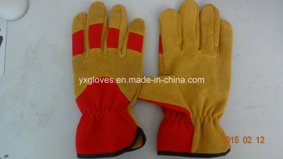 Cow Leather Glove-Working Glove-Industrial Glove-Cheap Glove-Gloves pictures & photos