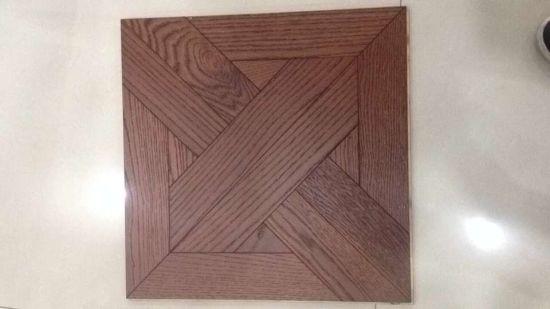China Prefinished Simple Style Brushed Oak Parquet Flooring China