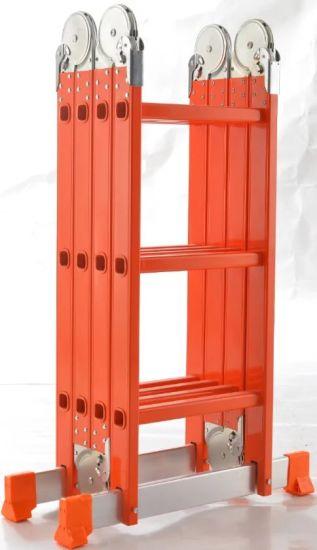 En131 Multi-Purpose Aluminum Ladder with Large Hinge