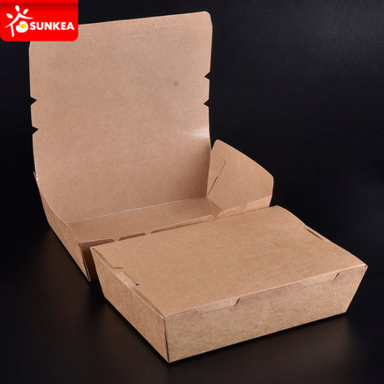 Custom Eco Friendly Personalised Kraft Food Packaging UK pictures & photos