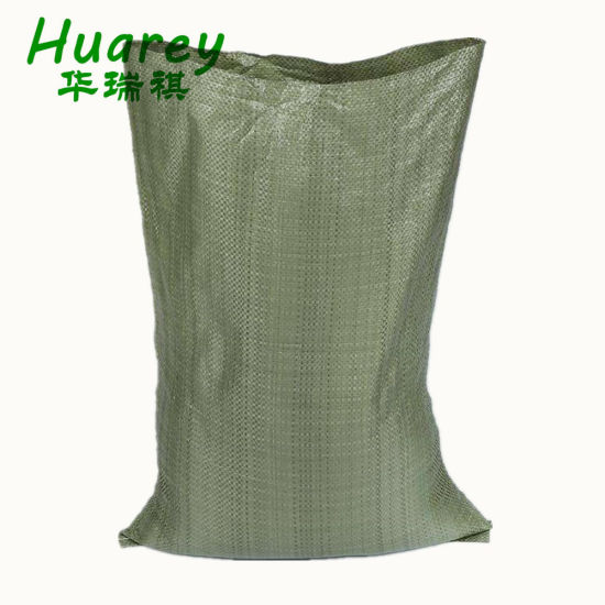 Green Recycled PP Woven Bags for Packaging Construction Waste Building Garbage Sand Feed