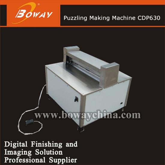 Cdp-630 Electric Jigsaw Puzzle Die Cutter Machine Maker