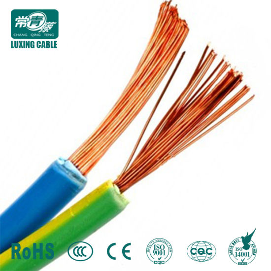 China Solid & Stranded Copper Conductor PVC Insulated Ggreen Yellow ...