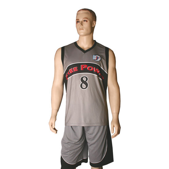 ba08cc40ff5 Unique Basketball Jersey Designs Black White Red Custom Wholesale Basketball  Jersey pictures & photos