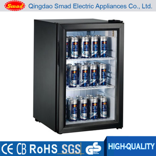 China Glass Door Beverage Cooler Display Showcase Refrigerator For