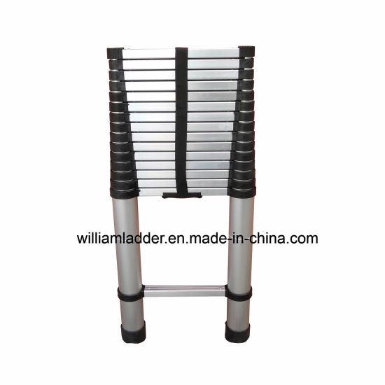 6.1m Single Telescopic Ladder Aluminum Foldable Stairs pictures & photos