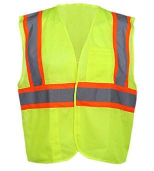 ANSI Polyester Roadway High Visibility Warning Reflective Mesh Safety Vest