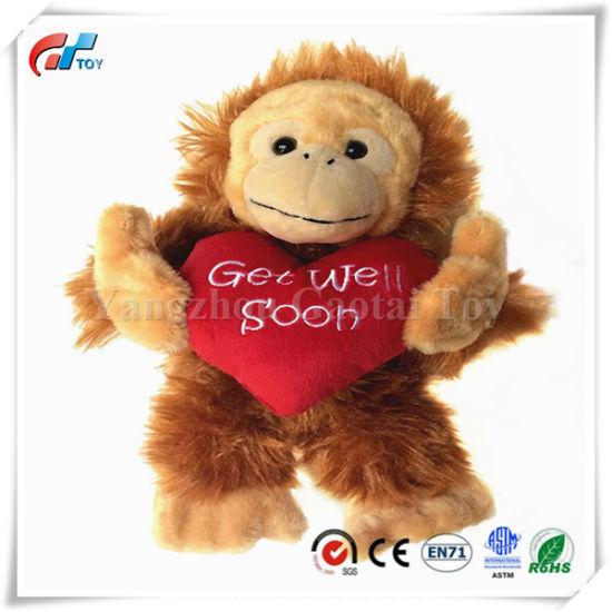 10 Inch Get Well Soon Monkey Stuffed Animal Valentine Gifts