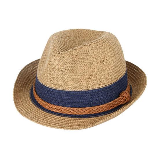 703161eea3432 China Custom Natural Color Fashion Fedora Paper Straw Hats Beach ...