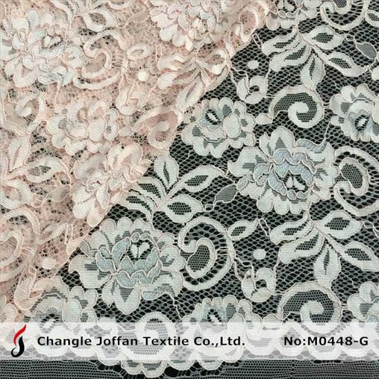 High Quality Embroidery Bridal Lace Fabric Wholesale (M0448-G) pictures & photos