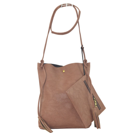 0f5221bc6e2 Stylish Tote Bag in Bag with Hanging Cluch Purse Ladeis PU Handbag Zxk875  pictures   photos