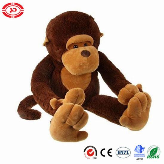 China Huggable Soft Cute Jumbo Plush Sitting Children Monkey Toy