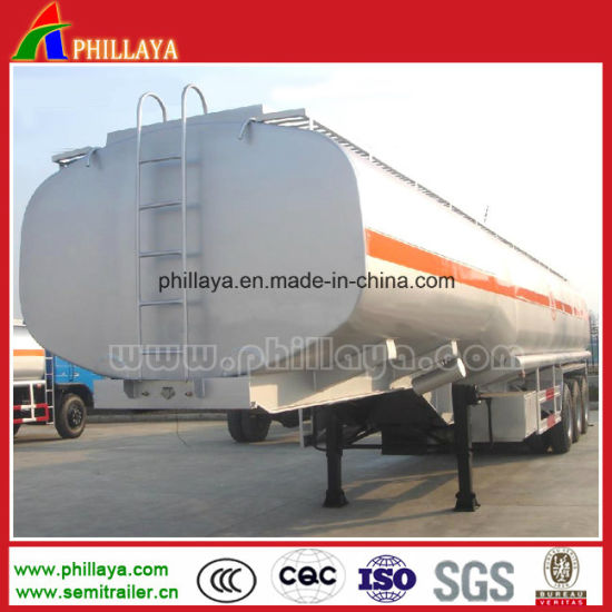 Double Axles Air Suspension Fuel Tank Aluminum Alloy Tanker Trailer pictures & photos