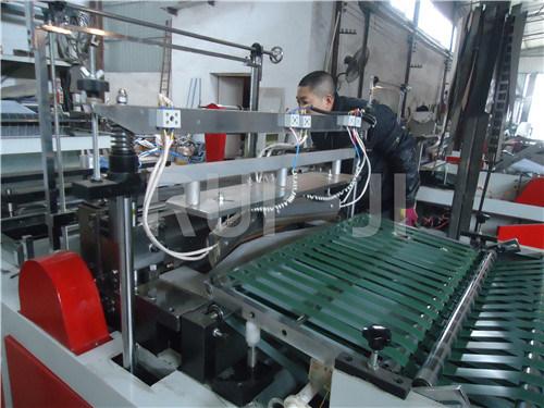Automatic Plastic Bag Making Machine for Hanger Shape Bag