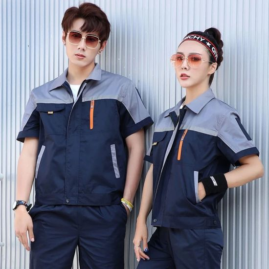 Wholesale Safety Jacket Garden Workwear Overalls Work Safety Clothes with Embroidered Logos